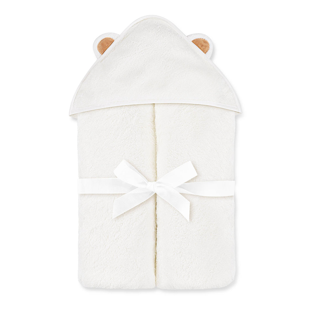 Natemia - White Bamboo Baby Bath Hooded Towel