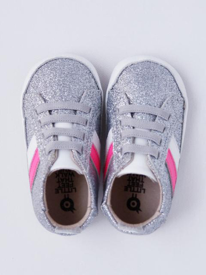 Old Soles Baby Girl's Silver Sneakers