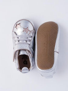 Old Soles Baby Girl's Silver High Top Sneakers