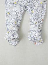 Load image into Gallery viewer, Boy's zippered footie onesie