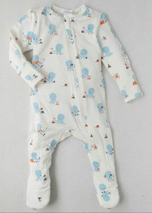 Boy's printed footie onesie