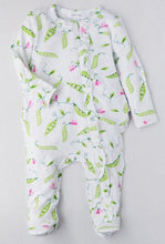 Load image into Gallery viewer, Baby girl's  zip footie onesie