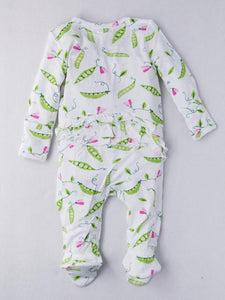 Baby girl's  zip footie onesie