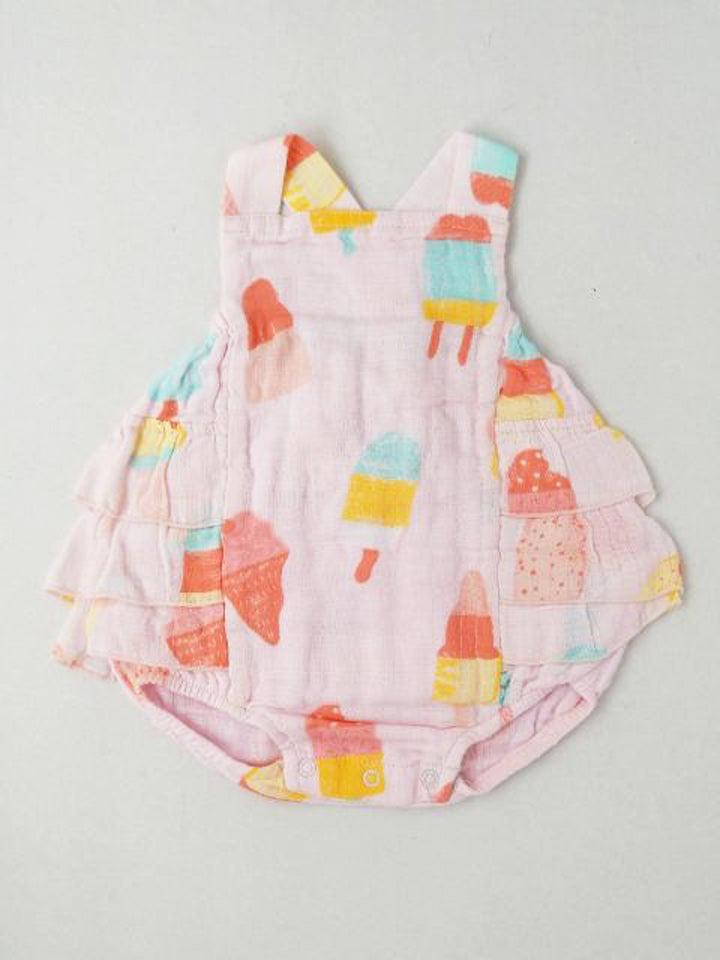 Girl's ruffle back sun-suit
