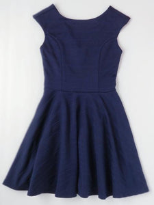 Tween navy cap sleeve dress