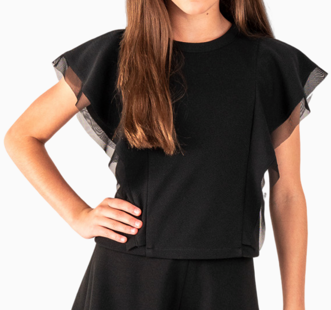 The Taylor Top - Black (Tween)