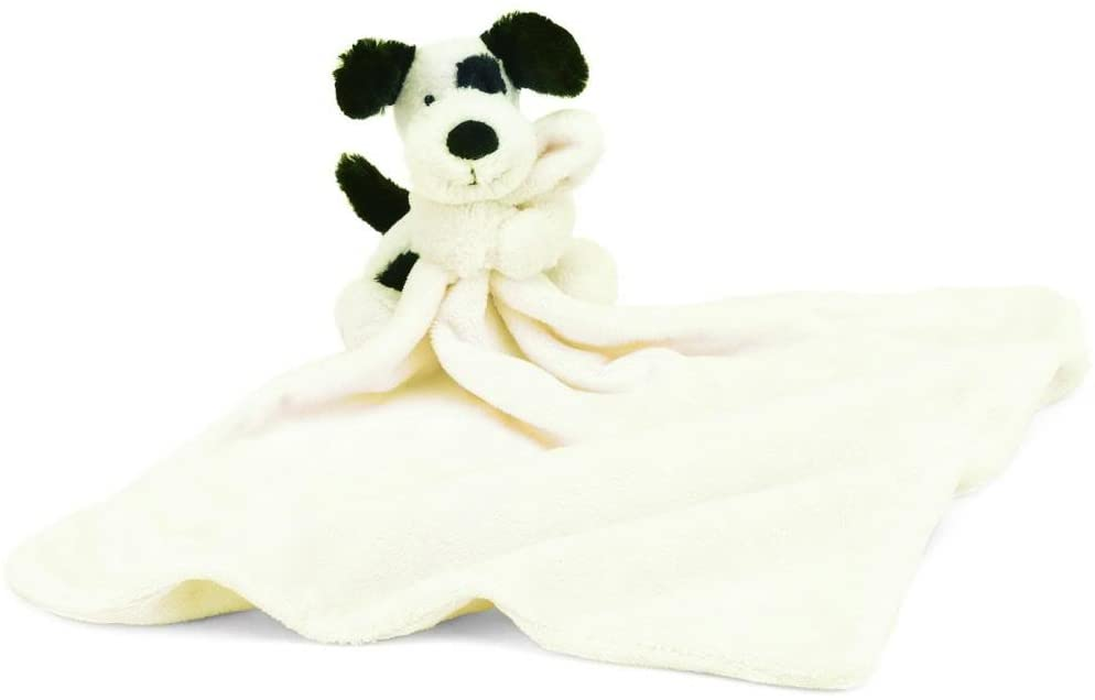 Jellycat - Bashful Black and Cream Puppy Baby Security Blanket