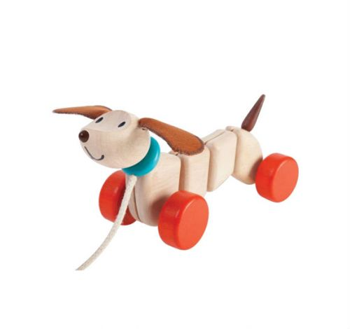 Plan Toys Happy Puppy Pull-Along