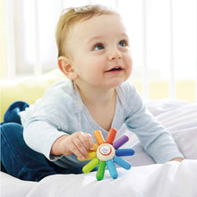 Load image into Gallery viewer, Haba -  Rainbow Sun Wooden Clutching Toy Rattle & Teether