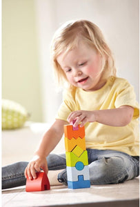Haba - Rainbow Rocket 9 Piece Wooden Stacking Play Set