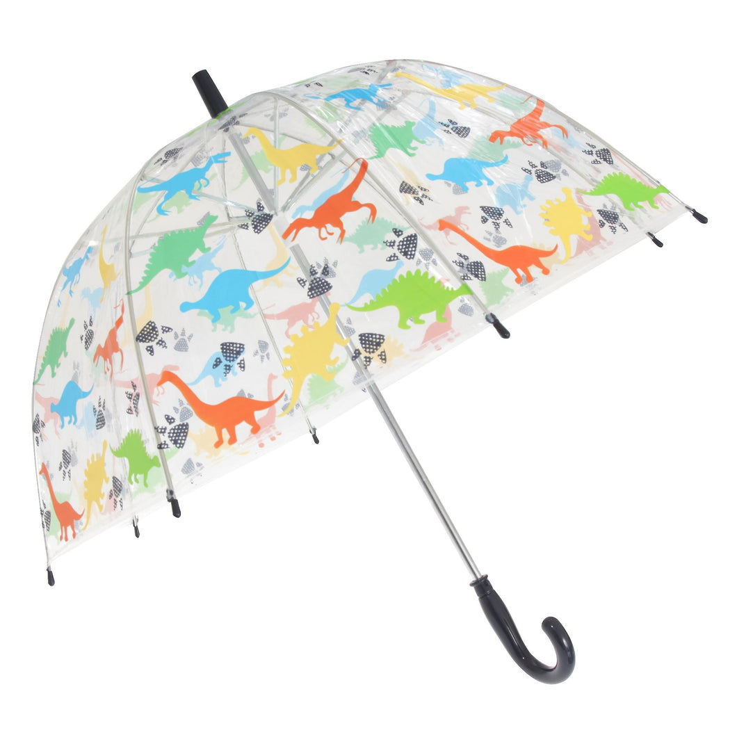 Transparent Dinosaur Themed Stick Umbrella