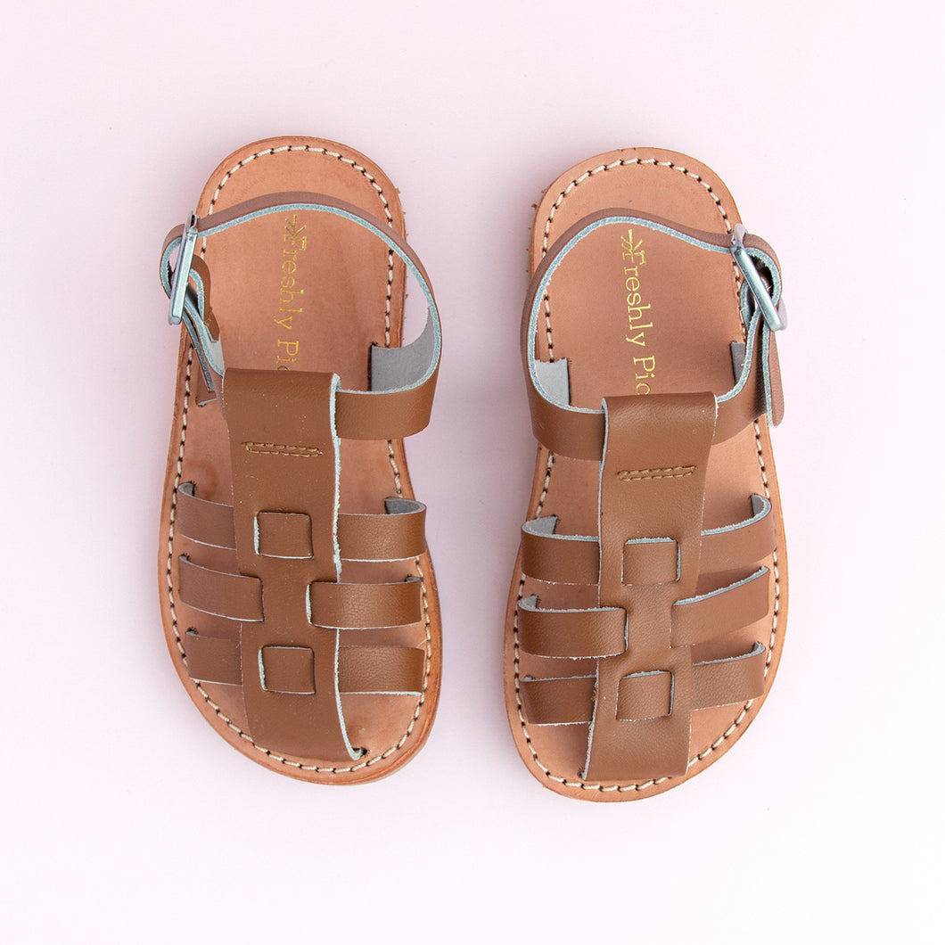 Boy's Lt. brown fisherman sandals
