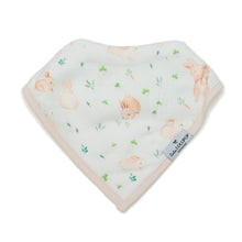 Load image into Gallery viewer, Loulou Lollipop Muslin Bandana Bib Set - Bunny Meadow