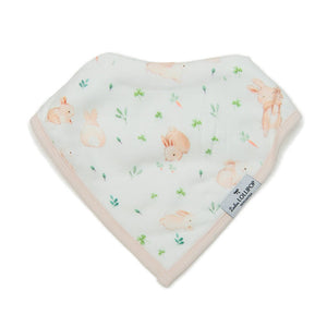 Loulou Lollipop Muslin Bandana Bib Set - Bunny Meadow