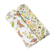 Load image into Gallery viewer, Bebe Au Lait Bamboo Blend Swaddle Set - Butterfly/Flutterby