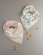 Load image into Gallery viewer, Loulou Lollipop Muslin Bandana Bib Set - Cactus Floral