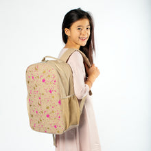 Load image into Gallery viewer, So Young Fuchsia and Gold Splatter Backpack ( 2 sizes )