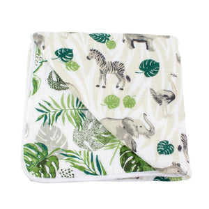 Bebe Au Lait Muslin Bebe Snuggle Blanket - Jungle/Rainforst