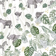 Load image into Gallery viewer, Bebe Au Lait Muslin Bebe Snuggle Blanket - Jungle/Rainforst