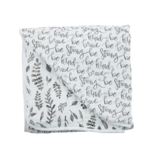Load image into Gallery viewer, Bebe Au Lait Cotton Bebe Snuggle Blanket - Just Be/Leaves