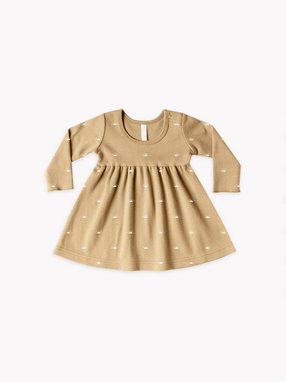 Quincy Mae Baby Girl's Long Sleeve Baby Dress Set/ Honey