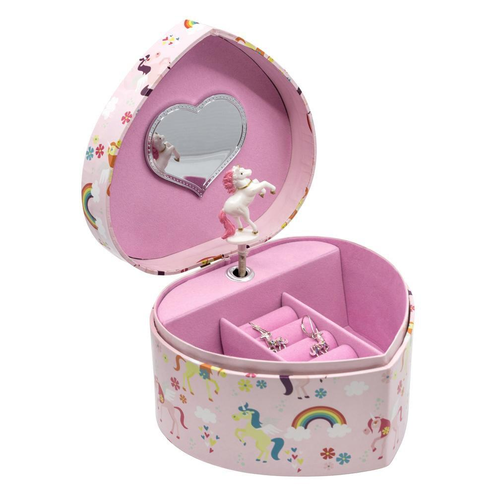 Chanteur - Rainbow And Unicorn Music Jewelry Box