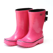 Load image into Gallery viewer, Pluie Pluie Double Bows Fuchsia Rain boots