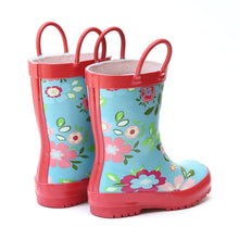 Load image into Gallery viewer, Pluie Pluie Blue Floral Rain Boots