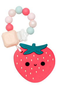 Loulou Lollipop Baby Teether - Strawberry Silicone Teether set