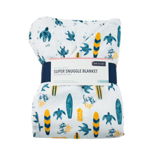 Load image into Gallery viewer, Bebe Au Lait Luxury Muslin Super Snuggle Blanket - Surf + Sea (Toddler +)