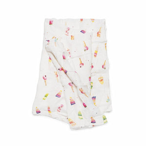 Loulou Lollipop Muslin Swaddle Blanket - Ice Cream Social