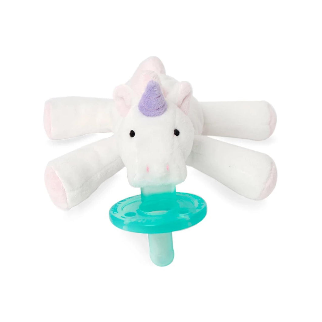 WubbaNub Plush Pacifier - Plush Pink Unicorn