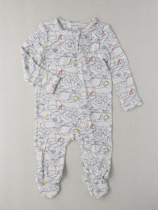 Boy's zippered footie onesie