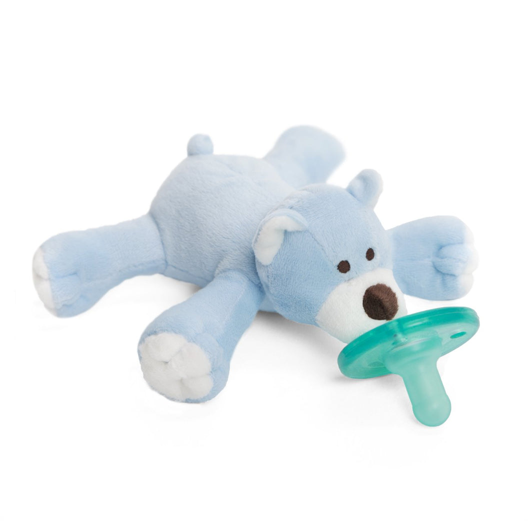 WubbaNub Plush Pacifier - Blue Bear