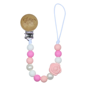 Glitter & Spice Pacifier Clip - Emmalyn Rose