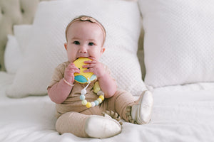 Loulou Lollipop Baby Teether - Lemon Silicone Teether Set