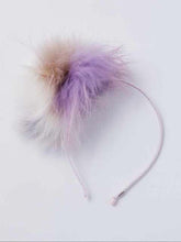 Load image into Gallery viewer, Girl's fur pom-pom headband