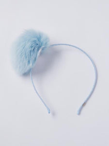 Girl's fur pom-pom headband ( more colors )