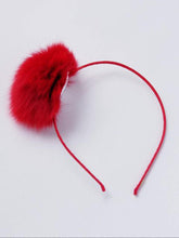 Load image into Gallery viewer, Girl's fur pom-pom headband ( more colors )