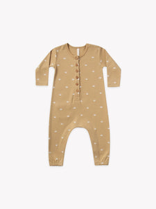 Quincy Mae Baby Long Sleeves Jumpsuit/ Honey