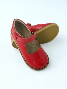 Girl's patent red Mary Jane