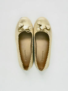 Girl's Gold Scallop Ballet Flats