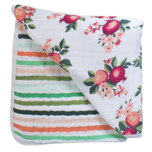 Load image into Gallery viewer, Bebe Au Lait Muslin Snuggle Blanket - Ojai + Ribbon