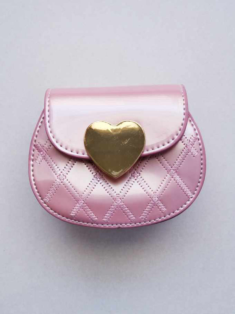 Girl's Shiny Pink Purse