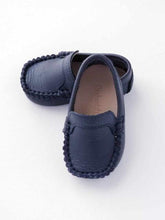 Load image into Gallery viewer, Baby boy's navy Moccasin