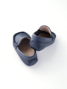 Baby boy's navy Moccasin