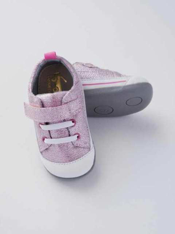 See Kai Run Baby Girl's Pink Glitter Sneakers