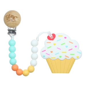 Glitter & Spice Cupcake Teether - Creamsicle