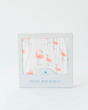 Load image into Gallery viewer, Deluxe Muslin Baby Quilt - Pink Ladies