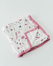 Load image into Gallery viewer, Deluxe Muslin Baby Quilt - Fairy Garden